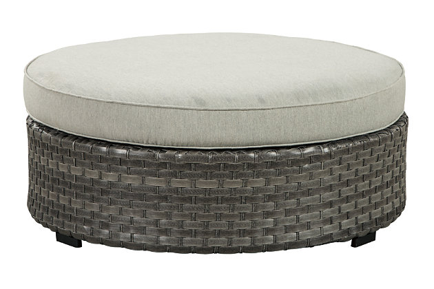 Spring Dew Ottoman with Cushion, , large
