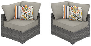 Spring Dew Corner Chair with Cushion (Set of 2), , large