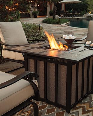 Wandon 5-Piece Outdoor Fire Pit Conversation Set, , large