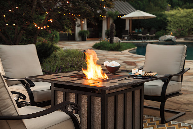 Wandon Fire Pit Table, , large