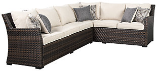 Easy Isle 3-Piece Sofa Sectional/Chair with Cushion, , rollover