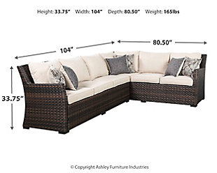 Easy Isle 3-Piece Sofa Sectional/Chair with Cushion, , large