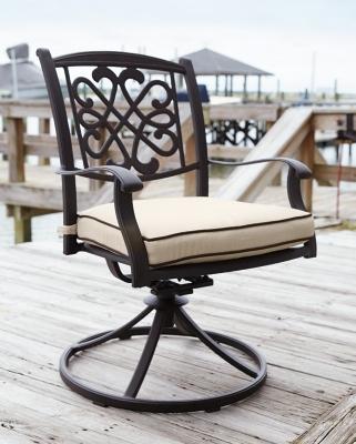 Ashley Burnella Swivel Chair with Cushion (Set of 2), Bei...
