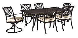 Burnella Dining Table with Umbrella Option, , large