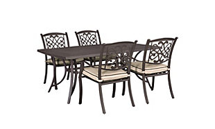 Burnella 5-Piece Outdoor Dining Set, , large