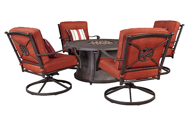 Burnella Swivel Lounge Chair (Set of 2), , large