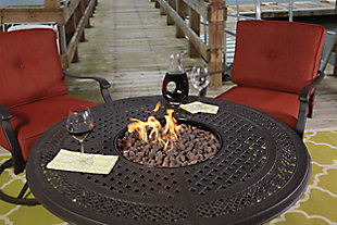 Burnella Fire Pit Table Top, , large