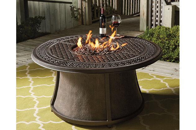 Burnella 5 Piece Outdoor Fire Pit Conversation Set