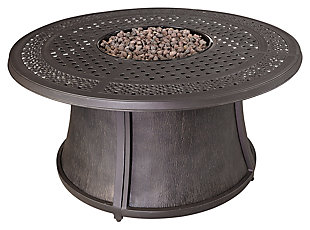 Burnella Outdoor Round Chat Fire Pit Table, , large