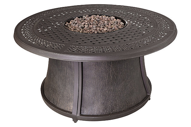 Burnella 5-Piece Outdoor Fire Pit Conversation Set, , large