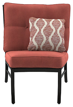 Burnella Armless Chair with Cushion, , large