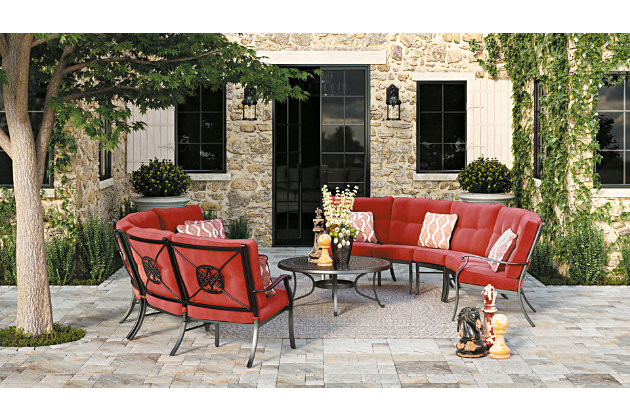 Burnella 3-Piece Outdoor Sectional, , large