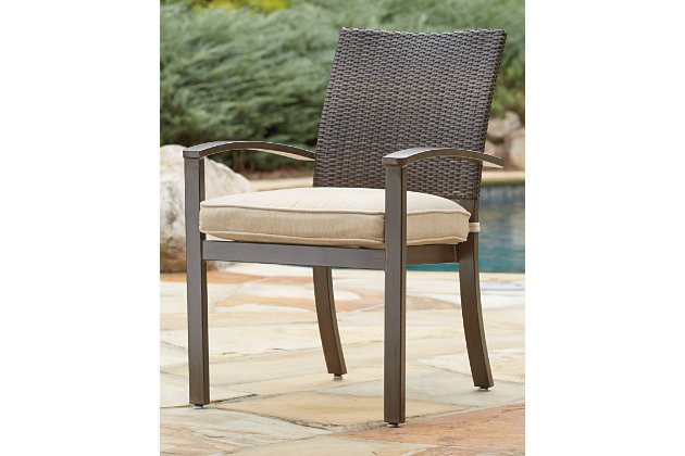Moresdale Chair with Cushion (Set of 4) by Ashley HomeStore, Brown