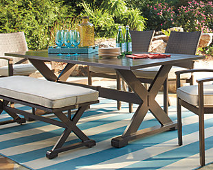 Moresdale 7 Piece Outdoor Rectangular Dining Set Ashley Furniture
