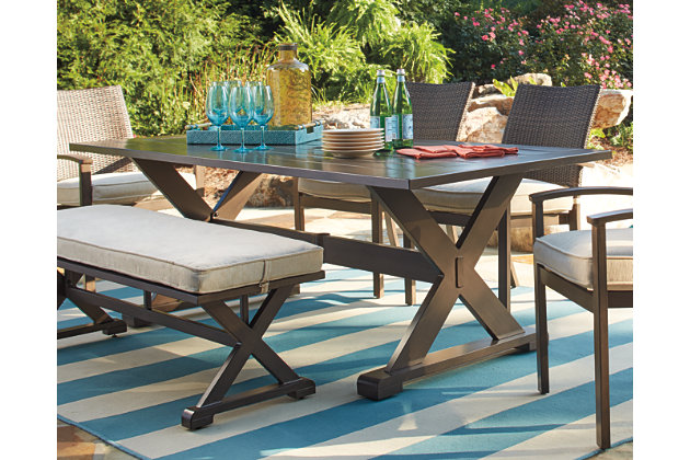 Moresdale Rectangular Outdoor Dining Table | Ashley Furniture ...