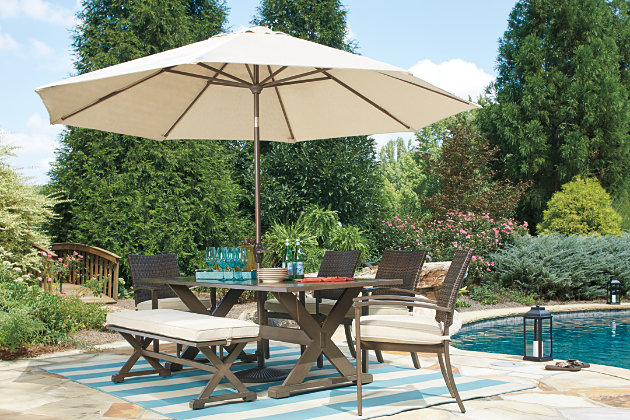 Moresdale Rectangular Outdoor Dining Table Ashley Furniture