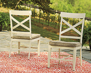 Preston Bay Armless Chair with Cushion (Set of 2), , rollover