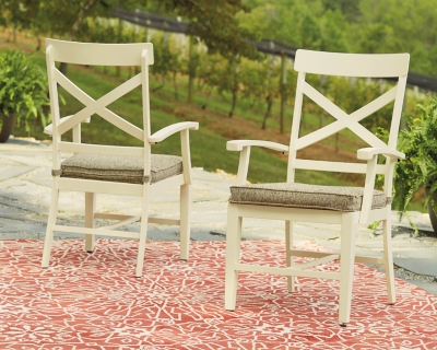 Preston Bay Arm Chair with Cushion (Set of 2), , large