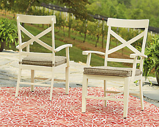 Preston Bay Arm Chair with Cushion (Set of 2), , rollover