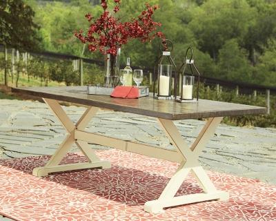 Preston Bay Dining Table with Umbrella Option, , large