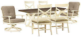 Preston Bay Outdoor Dining Table and 6 Chairs, , rollover