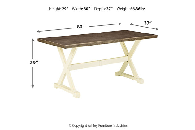 Preston Bay Dining Table with Umbrella Option, , large