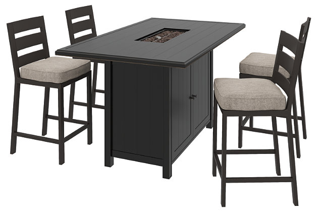 Perrymount 5-Piece Outdoor Bar Table Set, , large