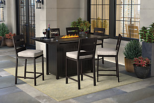 Perrymount 7-Piece Outdoor Bar Table Set, , rollover