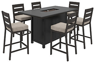 Perrymount Outdoor Dining Table and 6 Chairs, , large