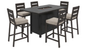 Perrymount 7-Piece Outdoor Bar Table Set, , large