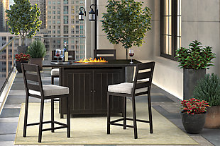 Perrymount 5-Piece Outdoor Bar Table Set, , rollover