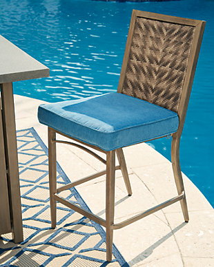 Partanna Bar Stool with Cushion (Set of 4), , rollover
