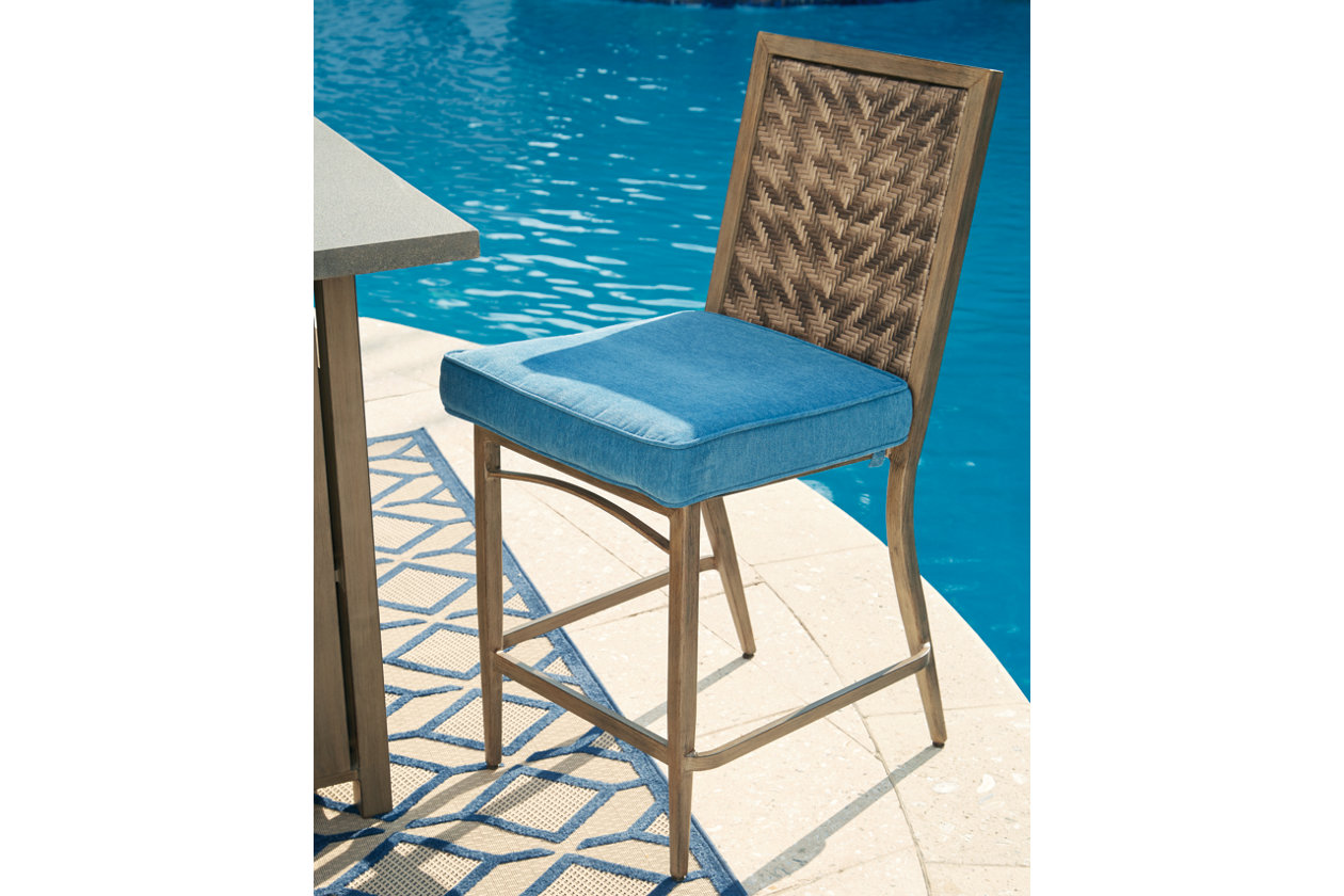 Partanna Bar Stool with Cushion (Set of 4) | Ashley Furniture HomeStore
