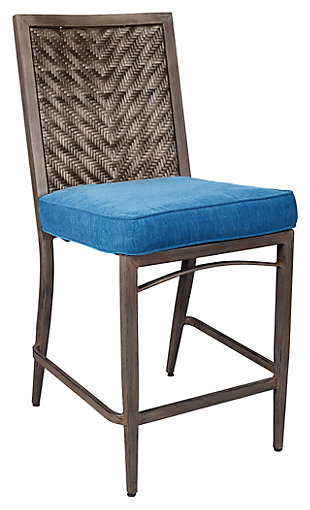 Partanna Barstool with Cushion (Set of 4), , large