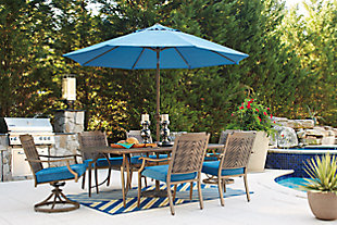 Partanna 7-Piece Outdoor Dining Set, , large