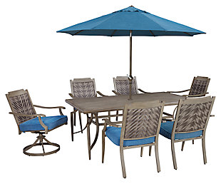 Partanna 9-Piece Outdoor Dining Set, , large