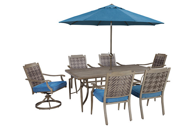 Blue/Beige Umbrella Accessories Patio Umbrella View 3
