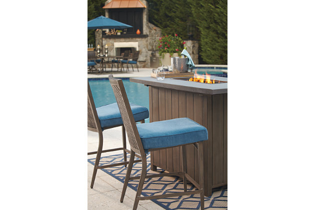 partanna 5 piece outdoor bar table set ashley furniture homestore