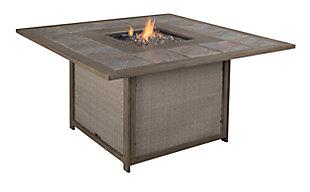 Partanna 5-Piece Outdoor Fire Pit Conversation Set, , large