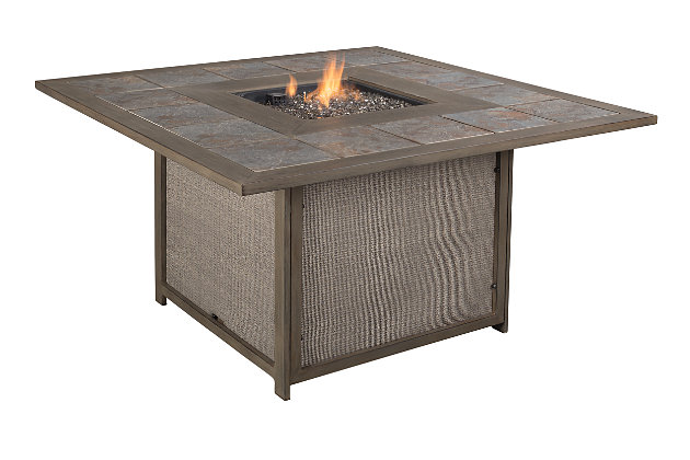 Partanna 3-Piece Outdoor Fire Pit Conversation Set, , large