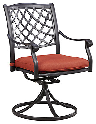 Tanglevale Swivel Chair with Cushion (Set of 2), , large