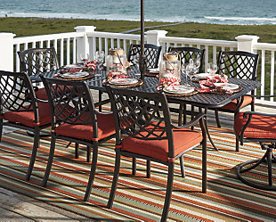 Tanglevale Dining Table with Umbrella Option, , rollover