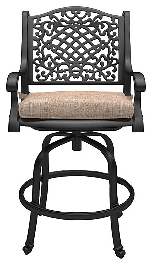 Rose View Bar Stool with Cushion (Set of 2), , large