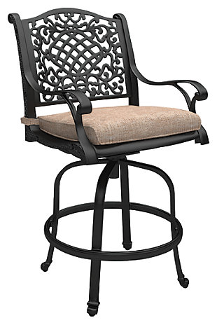 Rose View Barstool with Cushion (Set of 2), , large
