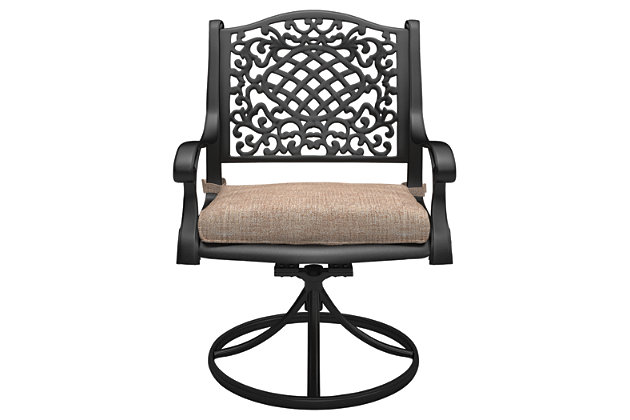 Rose View Swivel Chair with Cushion (Set of 2), , large