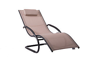 Patio Wave Lounger, Mocchiato, large