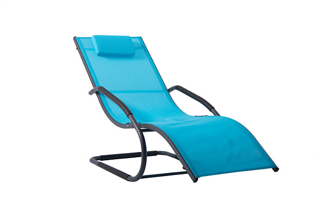 Patio Wave Lounger, Ocean, large