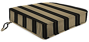 "Home Accents 22.5"" x 22.5"" Outdoor Deep Seat Chair Cushion, Tuxedo, large"