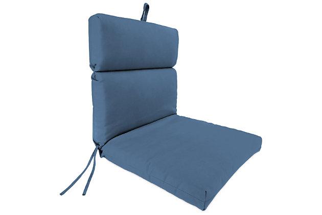 "Home Accents Outdoor 22"" x 44"" Sunbrella Chair Cushion, Sapphire, large"