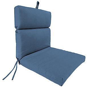 "Home Accents Outdoor 22"" x 44"" Sunbrella Chair Cushion, Sapphire, rollover"